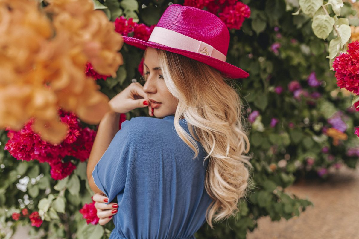 Chapéu Panamá Rosa Feminino Malu Pires