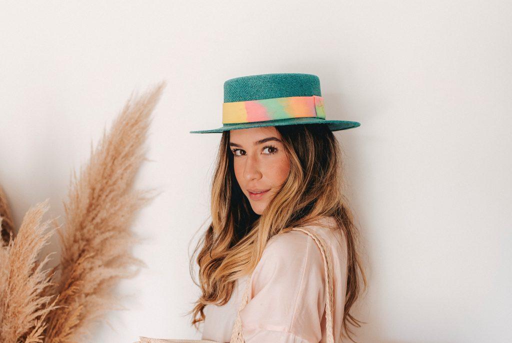 chapéu de palha tie dye