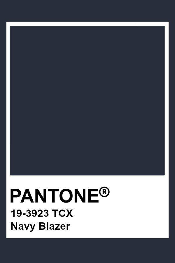 Navy Blazer Pantone