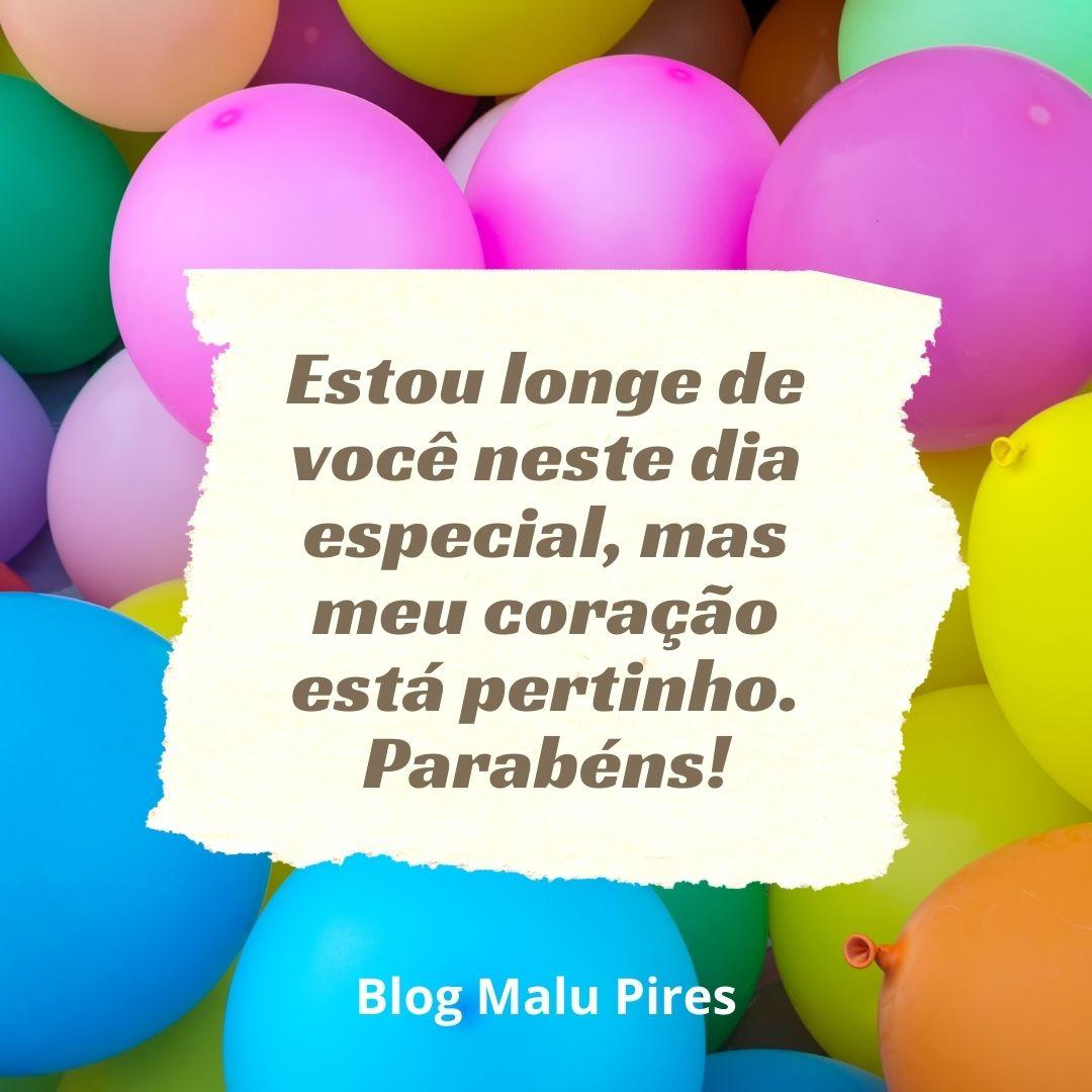 Imagem mostra mensagem de feliz aniversário