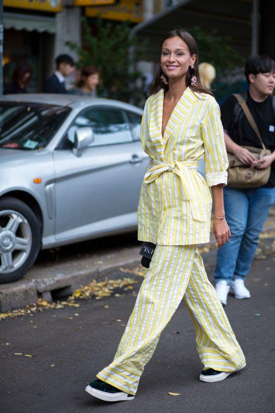 Imagem mostra como usar pijama para sair