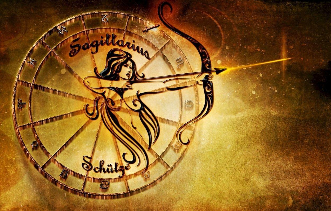 Imagem mostra símbolo do signo de sagitário