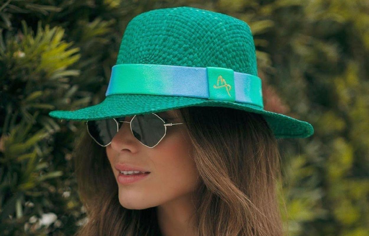 Imagem mostra chapéu bucket de palha