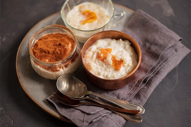 Imagem mostra pastel de arroz doce - festa junina comidas