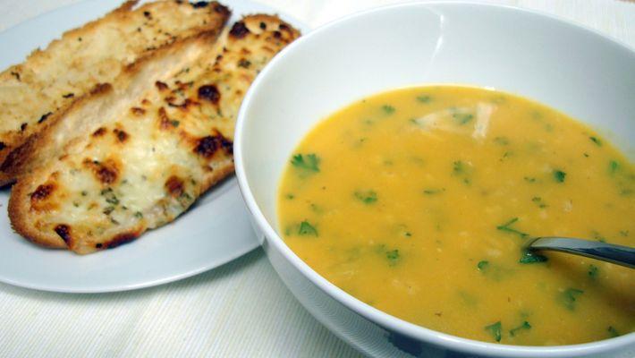 Imagem mostra receita de sopa de legumes