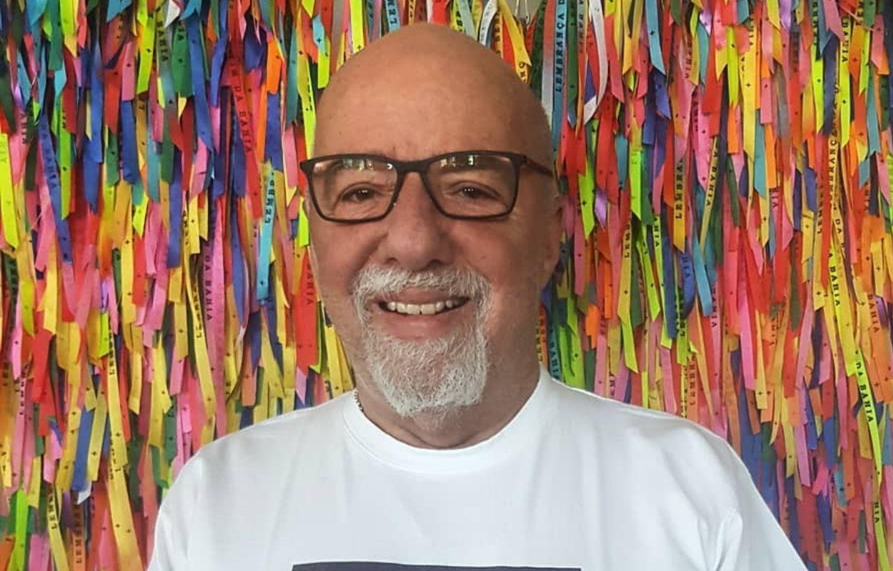 Imagem mostra rosto de Paulo Coelho - frases de Paulo Coelho