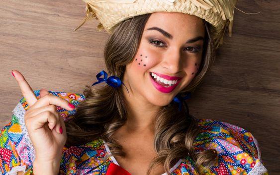 Imagem mostra penteado festa junina