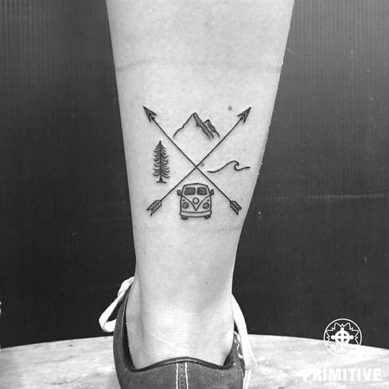 Imagem mostra tatuagem para quem ama viajar