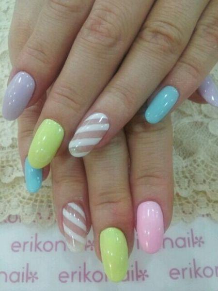 Imagem mostra cores pastel esmaltes