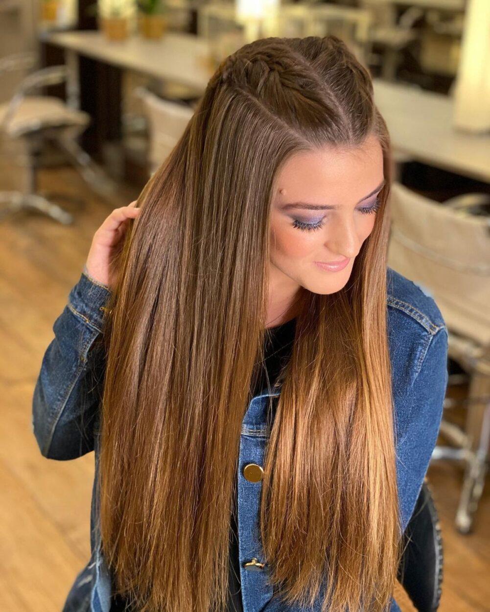 Imagem mostra penteado com trança